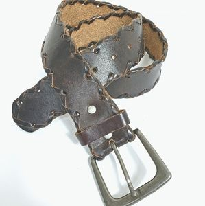 Aeropostale Brown Leather Boho Belt